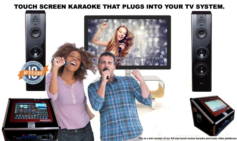 Mini Touch Screen Karaoke Jukebox Hire Perth.