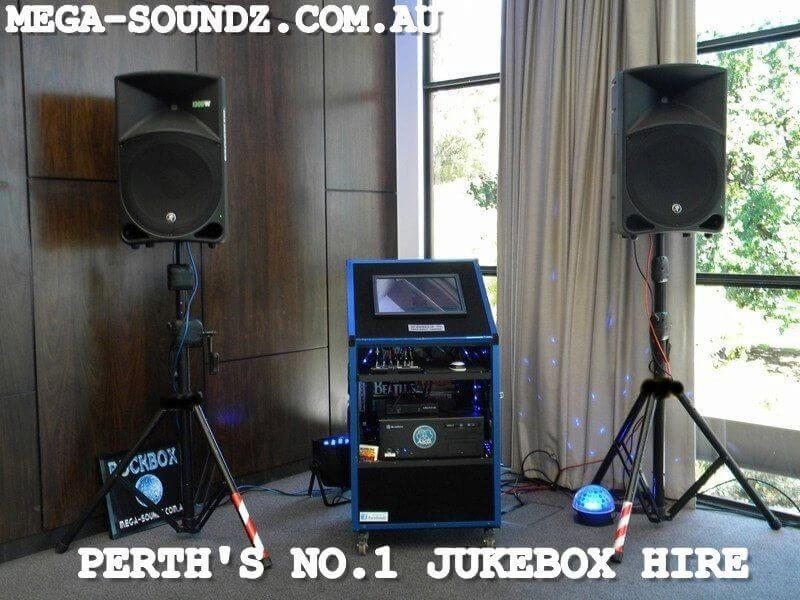 Touch Screen Music Jukebox Hire perth NO 1 MEGA-SOUNDZ
