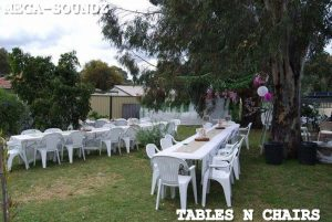 chair and table hire perth
