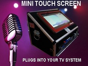 Mini Touch Screen karaoke jukebox hire perth