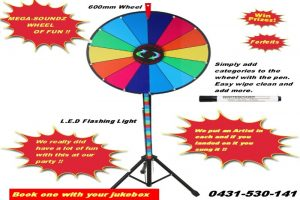 Party hire perth spin the wheel sing the karaoke song