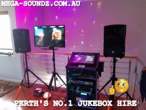 PROPER PERTH KARAOKE JUKEBOX HIRE NOT LAPTOPS