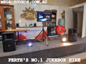 Touch Screen karaoke Jukebox machine Hire Perth