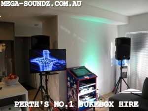 Party karaoke jukebox hire Perth Mega-Soundz