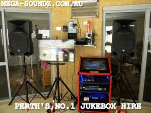 Touch screen karaoke jukebox machine hire Perth wa