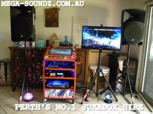 Touch Screen Party jukebox hire machine Perth