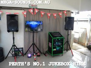touch screen karaoke jukebox hire machine Perth