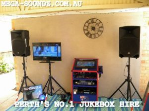 karaoke touch screen jukebox hire for Perth Wa