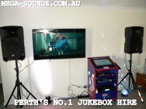 Touch screen karaoke jukebox rental machine hire Perth