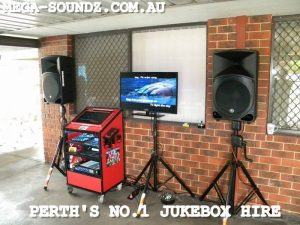 touch screen hens party karaoke jukebox hire Perth