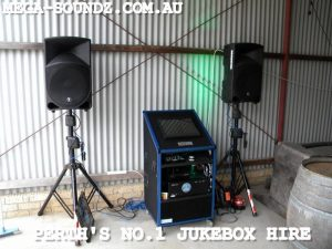 touch screen music jukebox hire machine Perth