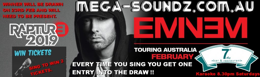 win Eminem Tickets Perth