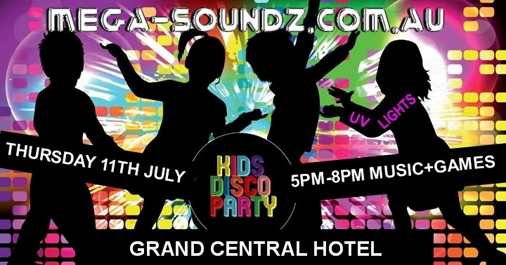 Kids Disco Party Grand Central Hotel Midland Perth.