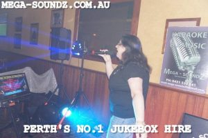Mega-Soundz karaoke machine hire Perth