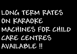 KARAOKE JUKEBOX HIRE FOR CHILD CARE CENTRES PERTH