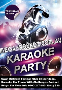 karaoke singing Wednesdays Perth